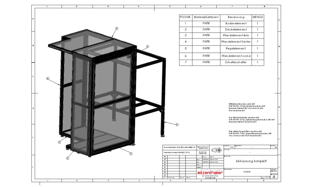 3D-Konstruktion – Feinwerktechnik Ritzenthaler GmbH